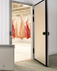 Распашные двери для холодильных камер
