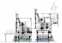 Обезволашивающие машины прерывного действия при убойной производительности до 240 голов в час