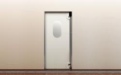 Маятниковые пластиковые двери
